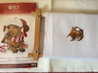 Christmas Dachshund 1