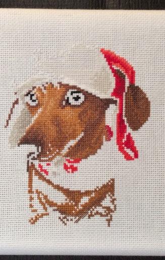 christmas dachshund 2