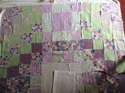 design layout for bee patchwork