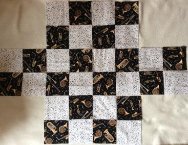 jazz quilt centre piece