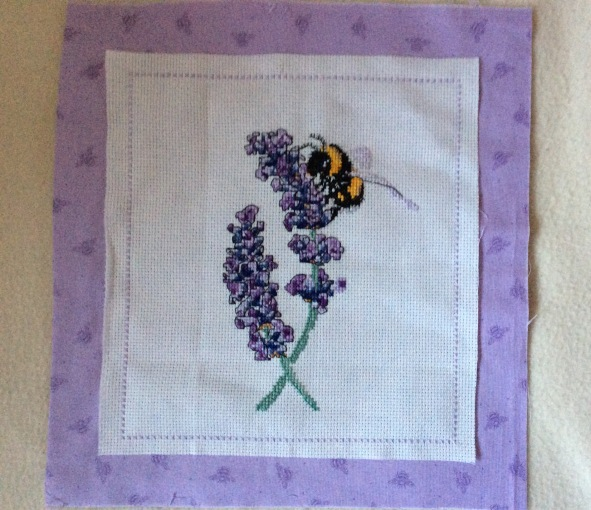 bee centre piece sewn on