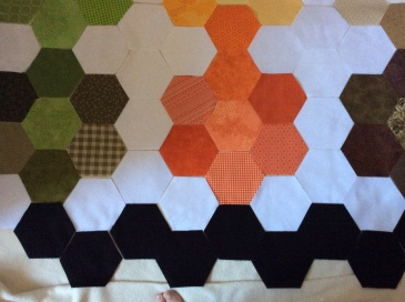 graduated hexagon border