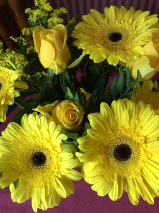flowers indoors yellow