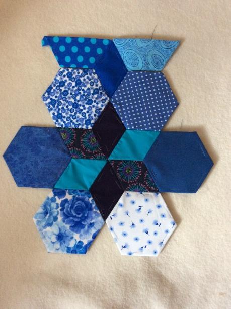 quilt block blue