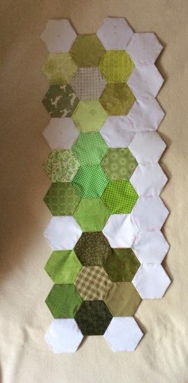 seasonal hexagons with border
