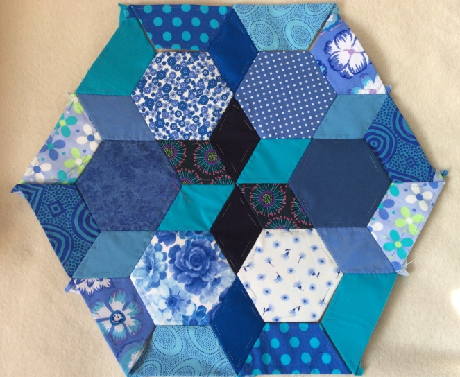 blue hexagon almost complete