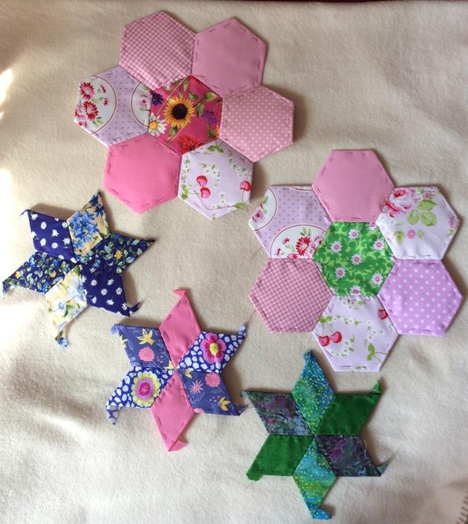 stars and hexagons