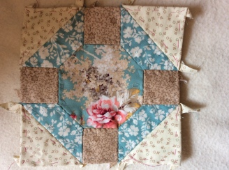 beige and turquoise square